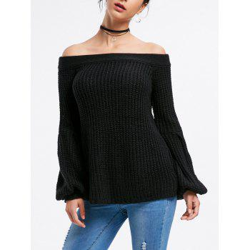 Off The Shoulder Bell Sleeve Sweater