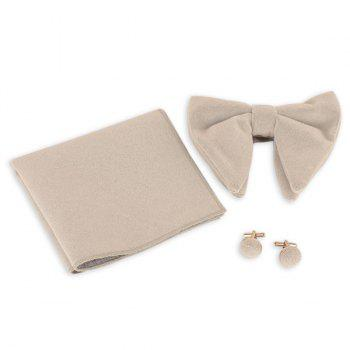 Three Pieces Bowtie Handkerchief Cufflink Set - PALOMINO PALOMINO