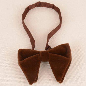 Three Pieces Bowtie Handkerchief Cufflink Set - BROWN