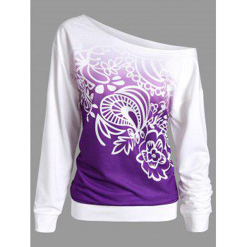 Ombre Printed Long Sleeve Sweatshirt