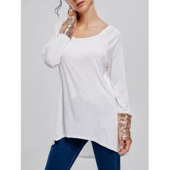 Long Sleeve Sequined Tunic T-shirt