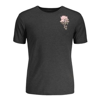 Tropical Flower Print T-shirt - GRAY GRAY
