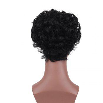 Short Layered Fluffy Curly Synthetic Wig - BLACK 26CM