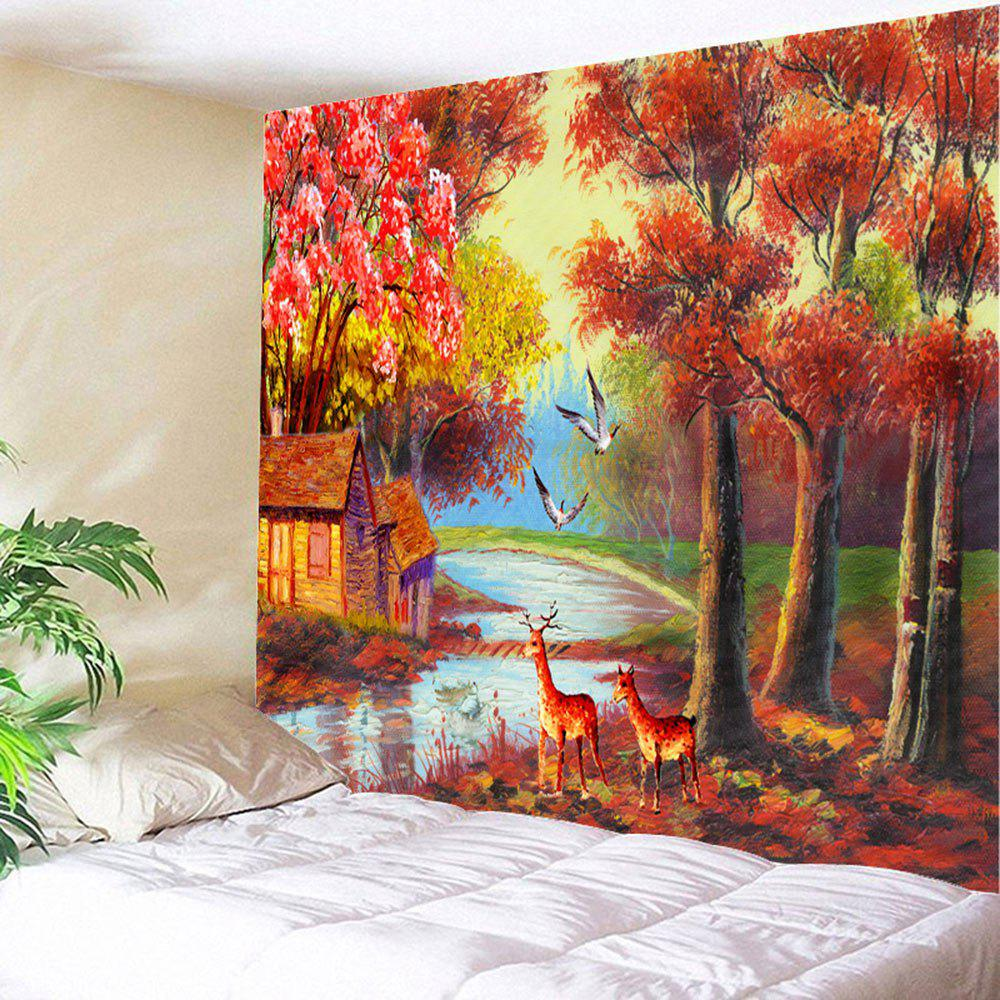 Autumn Scenic Painting Wall Decoration Tapestry diy beads painting flower cross stitch wall decoration