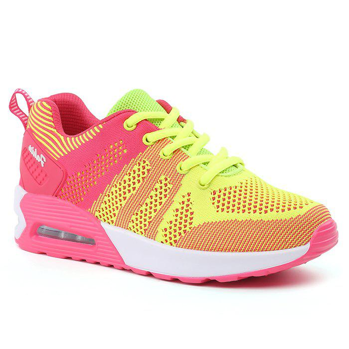 Color Block Air Cushion Breathable Athletic Shoes