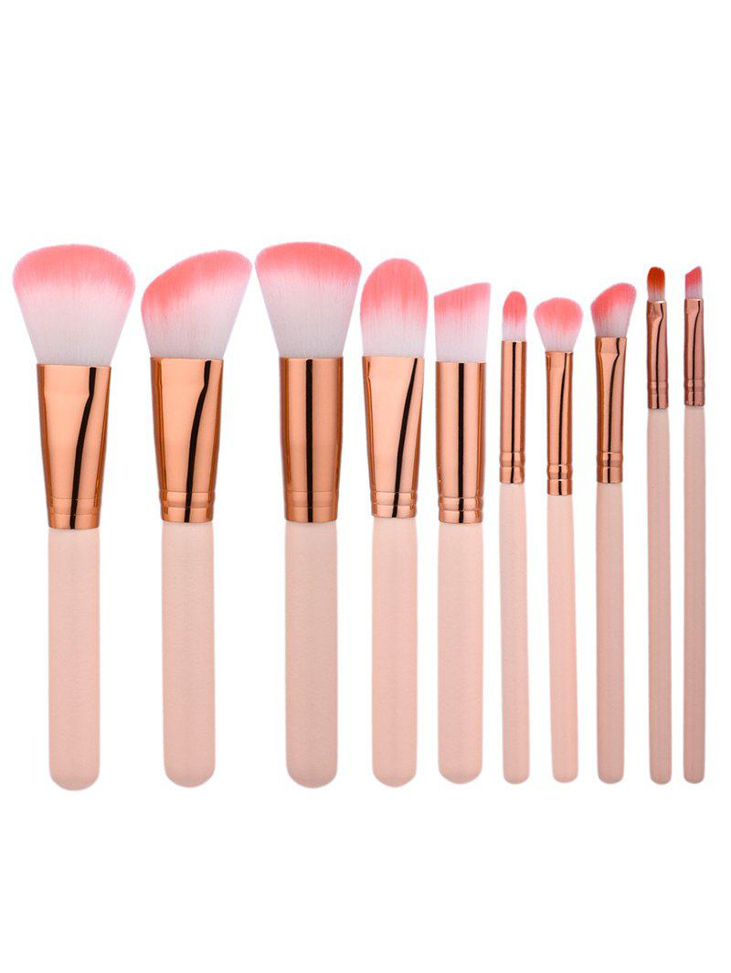 10Pcs Face Eye Make Up Brushes Set - COMPLEXION