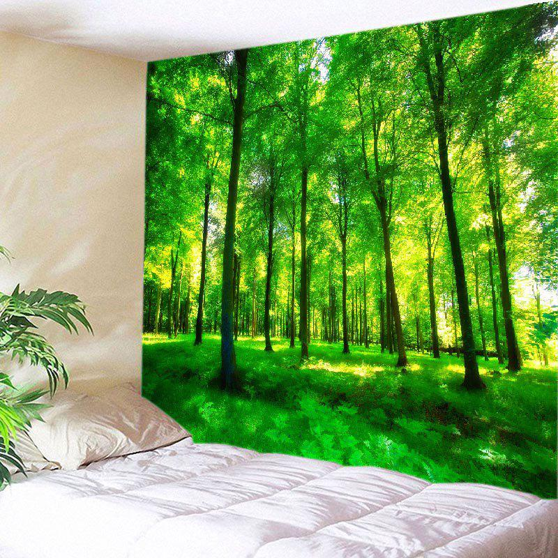 Forest Meadow Print Tapestry Wall Hanging Art forest wooden bridge print tapestry wall hanging art