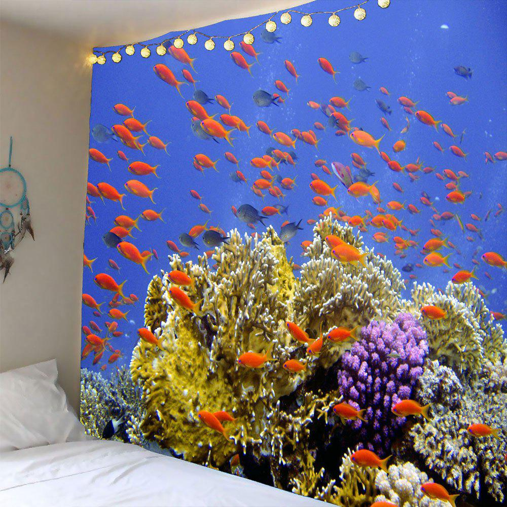 Coral Reef Fishs Printed Waterproof Wall Art Tapestry hzpk desktop stainless steel cover automatic electromagnetic foil sealing machine continuous induction sealer machine 20 80mm