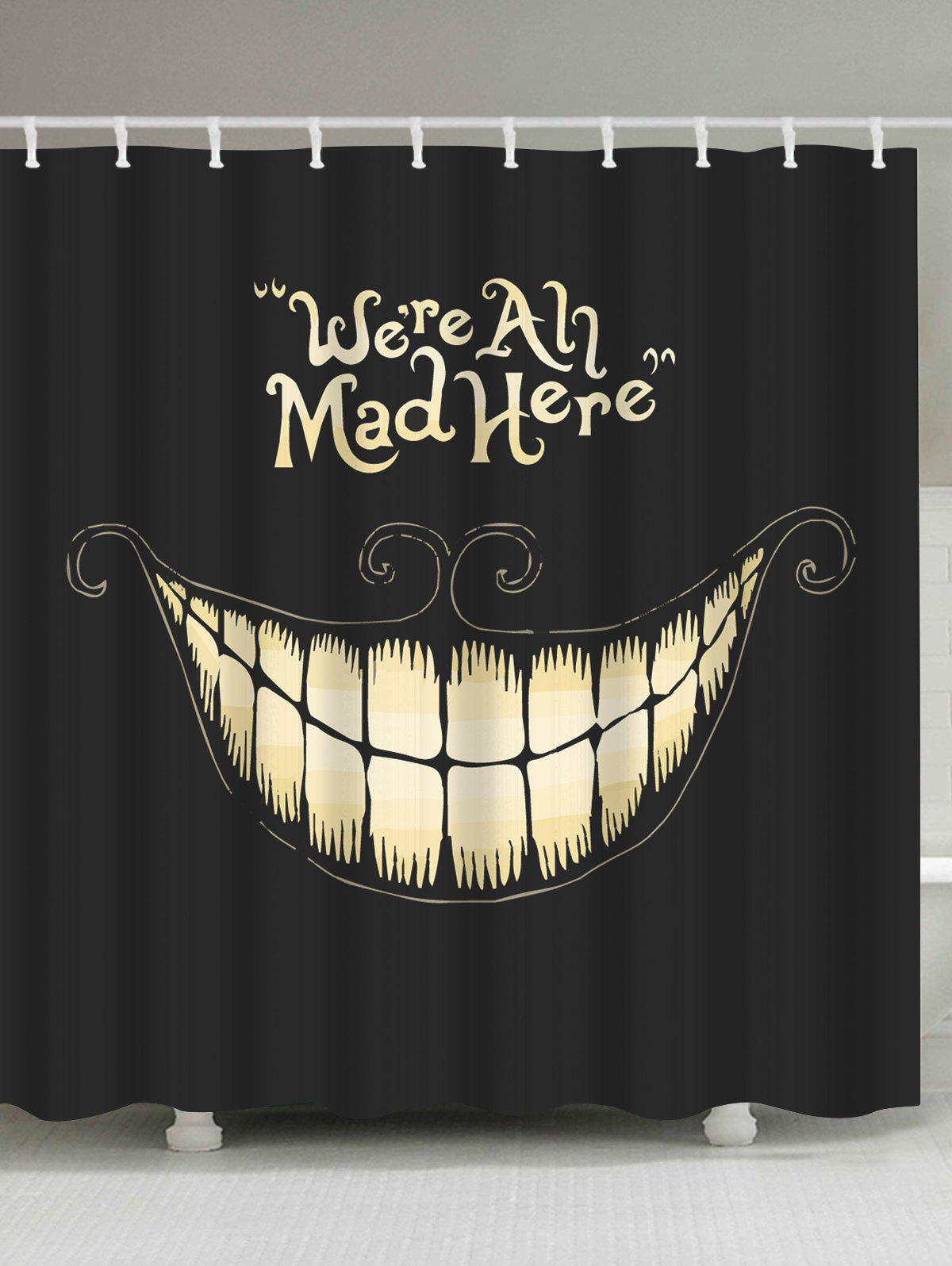 Halloween Funny Smiling Fabric Shower Curtain