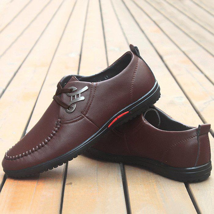 Stitching Metal Embellishment Casual Shoes - BROWN 44