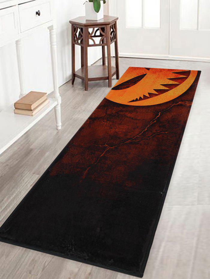 Halloween Pumpkin Print Anti-skid Indoor Outdoor Area Rug, Mandarin