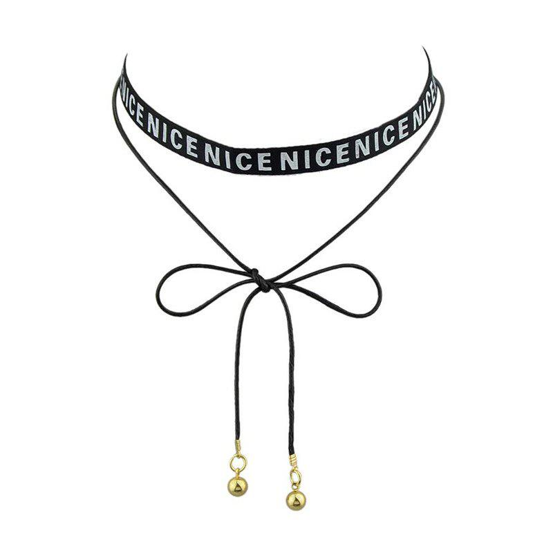 Nice Long Bows Choker Necklace