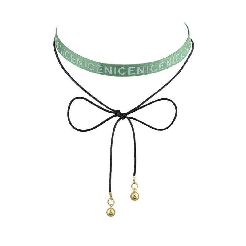 Nice Long Ringer Choker Necklace - GREEN