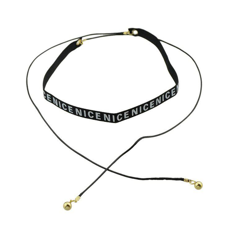 Nice Long Ringer Choker Necklace - Noir