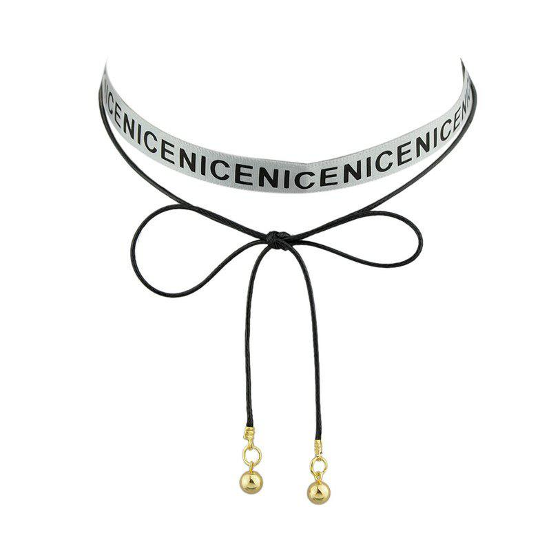 Nice Long Ringer Choker Necklace - Gris
