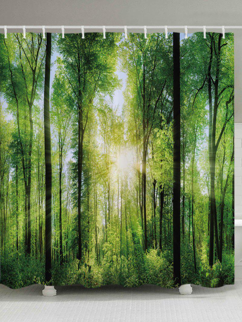 Forest Sunlight Print Fabric Bathroom Shower Curtain блесна forest realize