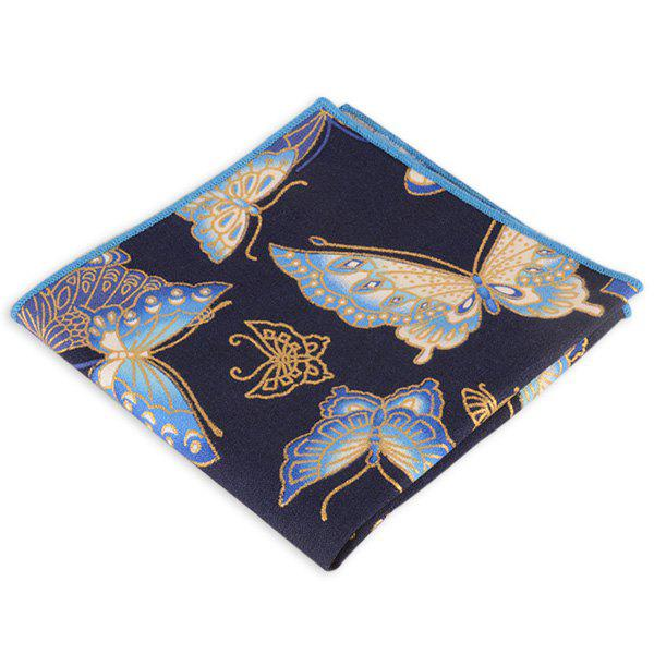 Animal Pattern Embellished Ethnic Handkerchief - BLUE