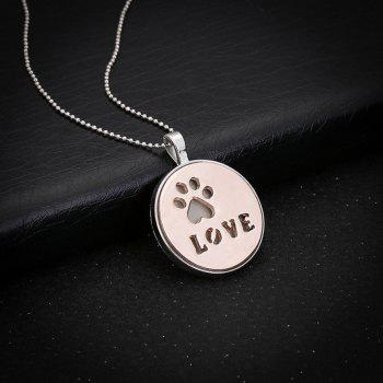 Love Glow in the Dark Claw Footprint Necklace