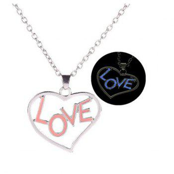 Glow in the Dark Love Heart Necklace
