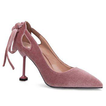 Hollow Out Velvet Strange Style Pumps
