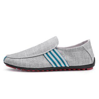 Stripe Trim Casual Slip On Shoes - Gris 43