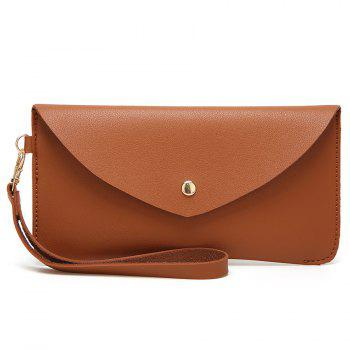 PU Leather Envelope Clutch Bag - BROWN BROWN