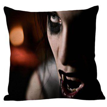 Vampire Pattern Square Halloween Pillow Case - COLORMIX W18 INCH * L18 INCH