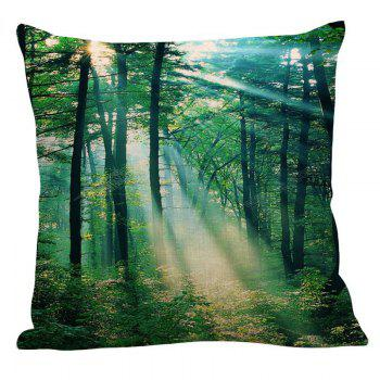 Sunshine Trees Printed Pillow Case - GREEN W18 INCH * L18 INCH
