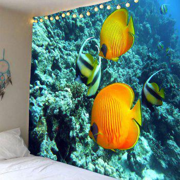 Underwater World Fish Coral Waterproof Tapestry
