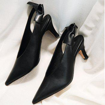Slingback Slip On Point Toe Pumps - Noir 37