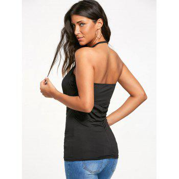 Backless Cowl Halter Neck Tank Top - S S