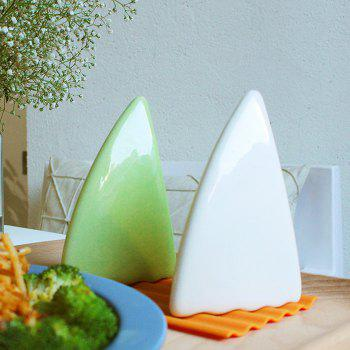 2Pcs Shark Shape Kitchen Seasoning Box -  WHITE/GREEN