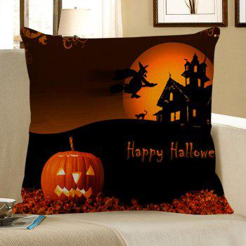 Pumpkin Sorcerer Pattern Halloween Pillow Case