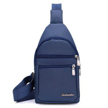 Zippers Nylon Front Crossbody Bag - BLUE BLUE
