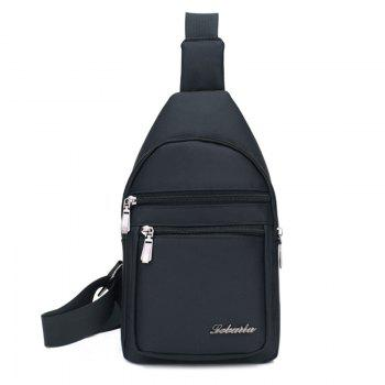 Zippers Nylon Front Crossbody Bag