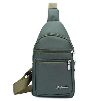 Zippers Nylon Front Crossbody Bag - ARMY GREEN ARMY GREEN