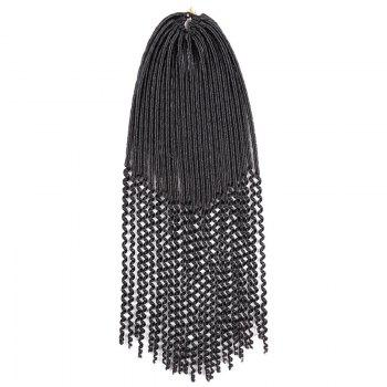 Faux Dread Locs Crochet Long Hair Braids Extensions -  BLACK