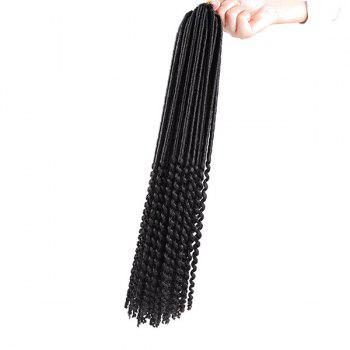 Faux Dread Locs Crochet Long Hair Braids Extensions - BLACK BLACK