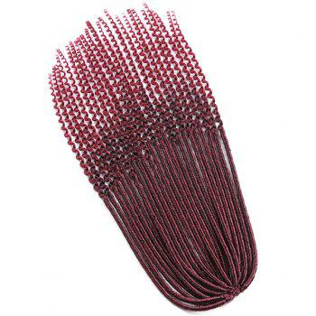 Faux Dread Locs Crochet Long Hair Braids Extensions -  WINE RED