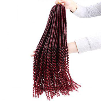 Faux Dread Locs Crochet Long Hair Braids Extensions - WINE RED WINE RED