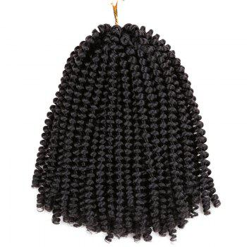 Fluffy Afro Spring Twist Braids Short Hair Extensions - BLACK BLACK