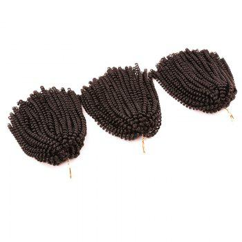 Fluffy Afro Spring Twist Braids Short Hair Extensions - GREYISH BROWN GREYISH BROWN