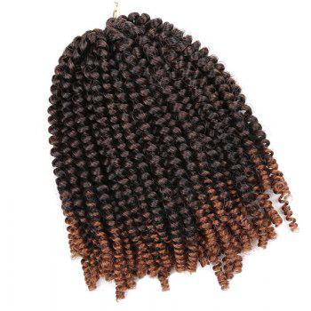Fluffy Afro Spring Twist Braids Short Hair Extensions