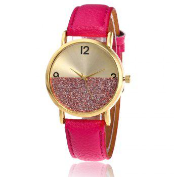 Faux Leather Glitter Face Watch - TUTTI FRUTTI TUTTI FRUTTI
