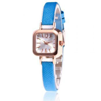 Faux Leather Square Shape Watch