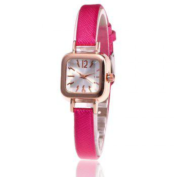 Faux Leather Square Shape Watch - TUTTI FRUTTI TUTTI FRUTTI