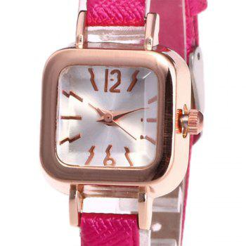Faux Leather Square Shape Watch -  TUTTI FRUTTI