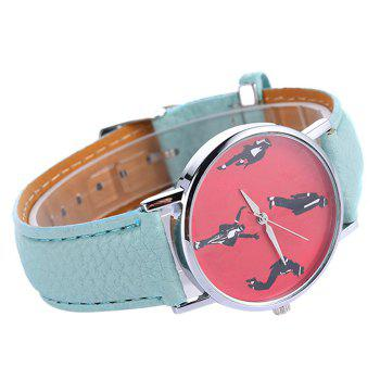 Bracelet en similicuir Michael Jackson Pattern Watch - Menthe