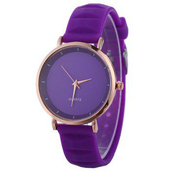 Silicone Strap Minimalist Watch - PURPLE PURPLE