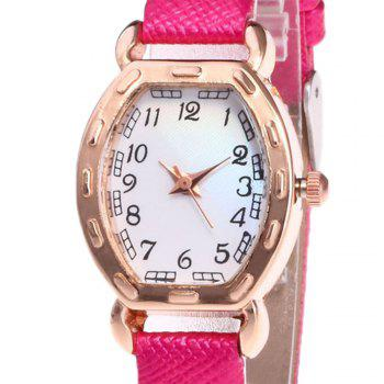 Faux Leather Number Analog Watch -  TUTTI FRUTTI